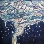 """Lloviendo, 2017, Javier Cruz, óleo sobre lino, exposición """"Árbol, rama y tiempo. Eterna naturaleza""""."""