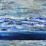 """Mar azul, 2014, Julie Sassón, óleo sobre tela, exposición colectiva """"Artistas de Casa Lamm""""."""