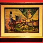 """Los días de la calle Gabino Barreda,1944, Gunther Gerzso, óleo sobre tela, colección particular, exposición """"Leonora Carrington, Cuentos Mágicos""""."""