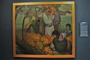"""La ofrenda,1913, Saturnino Herrán, óleo sobre tela, colección acervo constitutivo Museo Nacional de Arte, exposición """"Saturnino Herrán y otros modernistas""""."""