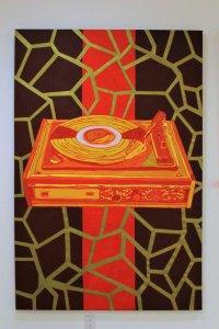 I Love Black Chocolate, 2009, Alê Souto, mixta sobre tela, exposición «EXPEDICIONES O la deriva como dibujo de la emotividad»