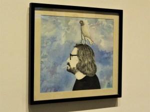 Mirando al pasado, 1986, Francisco Icaza, tinta sobre papel, exposición «Francisco Icaza. Me quiero ir al mar»