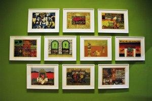 Serie «La fiera malvada», 1971, Francisco Icaza, litografía a color, colección de Miguel Icaza, exposición «Francisco Icaza. Me quiero ir al mar»