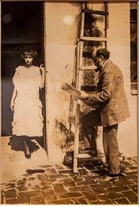 Nahui Olin y Dr. Atl en la azotea del claustro de la Merced
