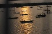 Pemandangan dari atas jemabatan Suramadu