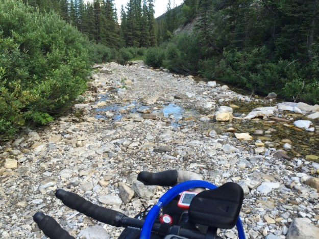The rock path on the other side of Flathead pass.