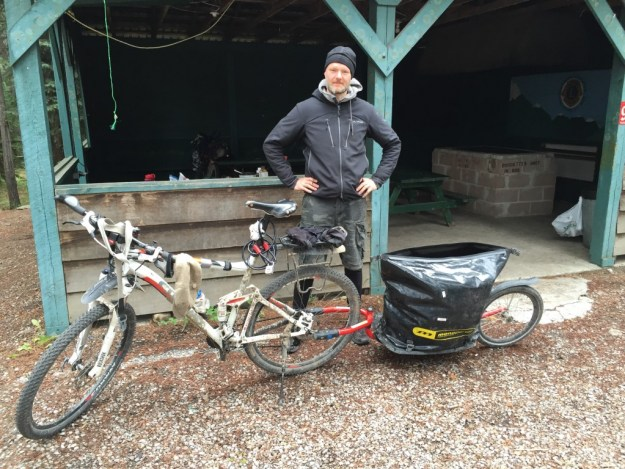 Andreas came fro Germany to bike the GDMBR