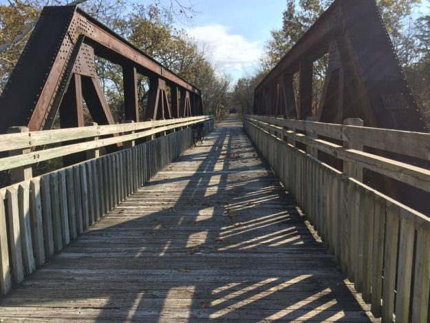 Just one of the many bridges along the Katy.