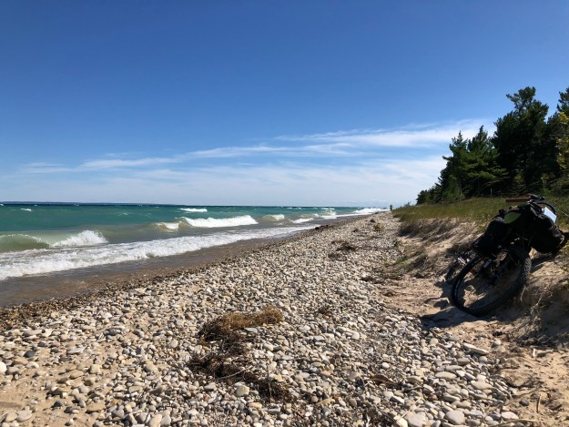 Beach front on the East side of Beaver Island