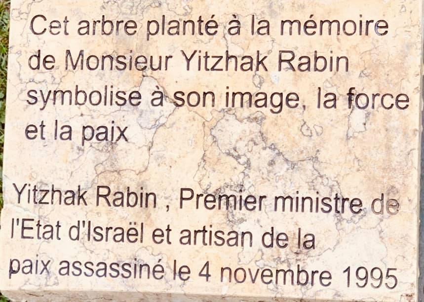 Hommage Mr Yitzhak Rabin