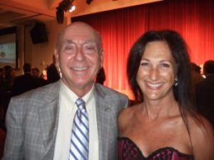 With ESPN's Dick Vitale at the Tampa Bay Sneaker Soiree.