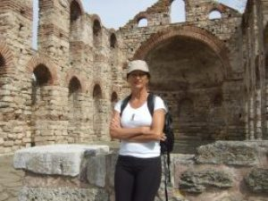 Prepping for a Maura4u video shoot in a World Heritage site in Nessebar, Bulgaria