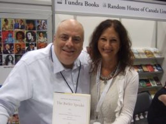 Butler Charles MacPherson and author Maura Sweeney at Book Expo America 2013 in NYC