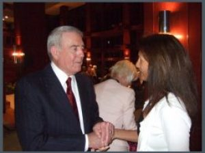Maura Sweeney and Dan Rather at Poynter Institute