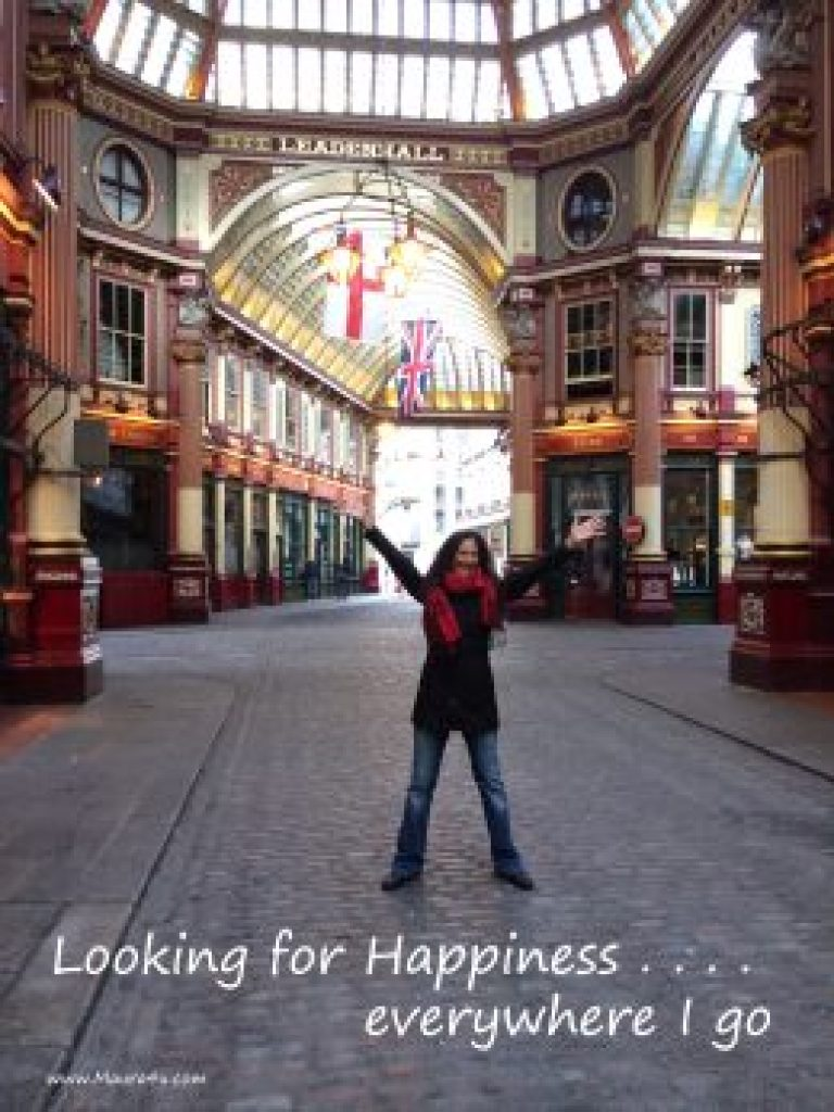 Happy in the City of London, England - regardless of the weather!