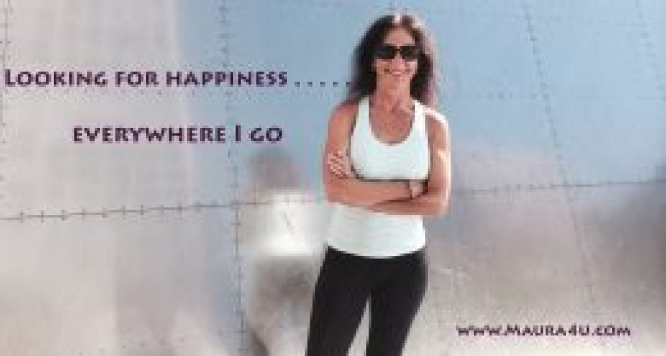 Maura Sweeney Looking for Happiness at Boston Waterfront