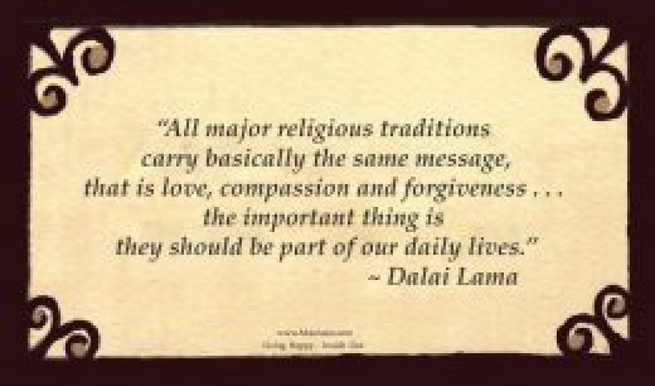 FF32 Dalai Lama Quote About Religious Similarities