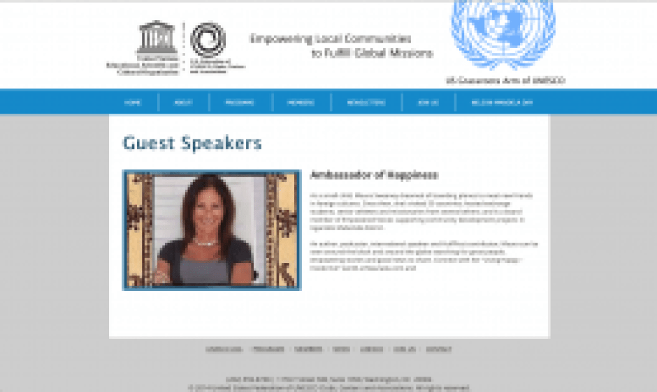 Maura Sweeney + UNESCO Ambassador of Happiness + Nelson Mandela Day