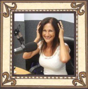 Maura Sweeney with headphones