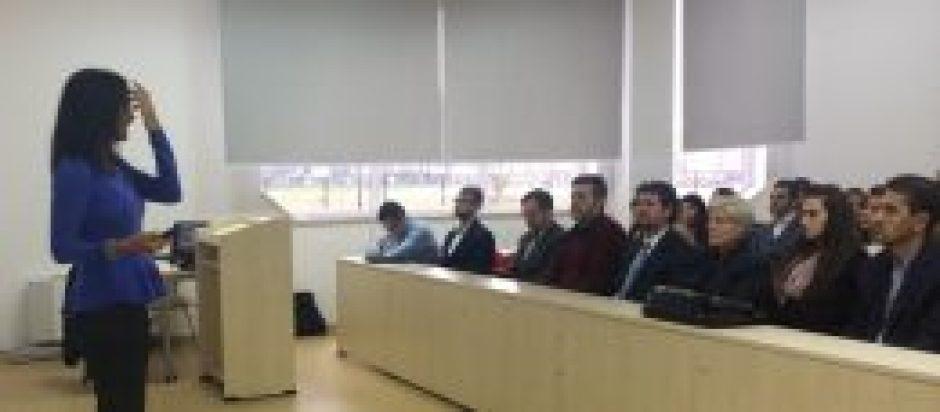 Maura Sweeney Speaking in Kosovo