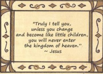 Jesus Quote about children and Maura Sweeney