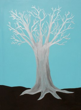 """The Druid Tree - 36 x 48 x 1"""" canvas wrapped acrylic painting by Maura Satchell, Artist. All rights reserved."""