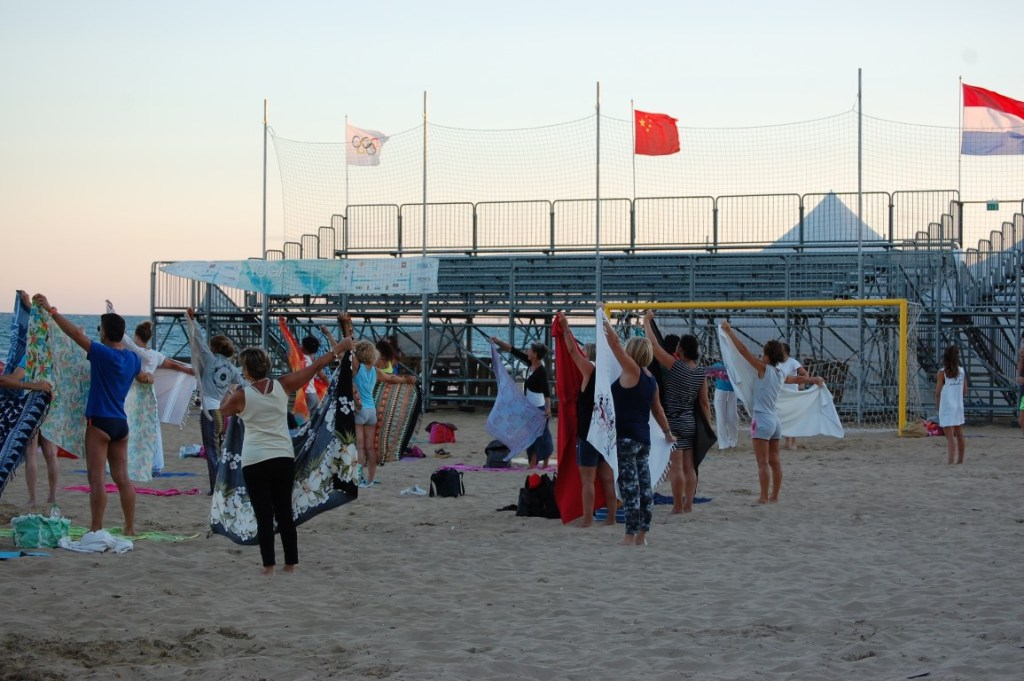 Arena Beach Jesolo Yoga DAy MAura Yoga