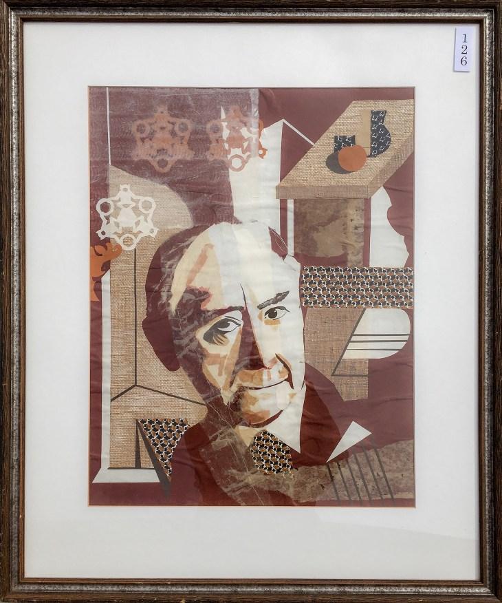 #126 Collage - paper portrait #10