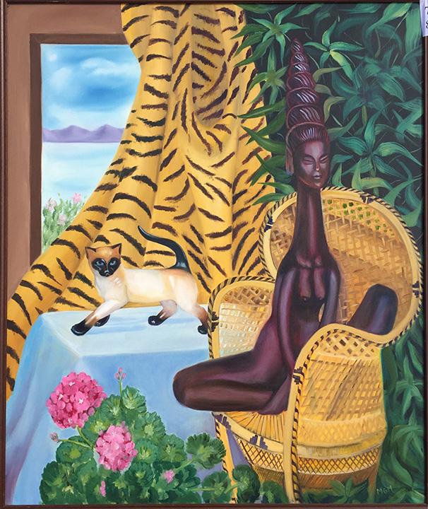 #78 Laotian lady - window cat
