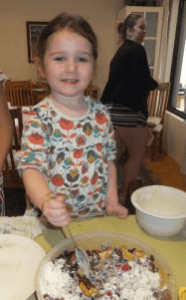 Elizabeth, my great-granddaughter who is three and a half