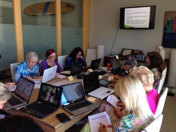 Participants at Amanda Kendle's workshop at the Beach Boardroom last week. (Photo by Amanda Kendle)