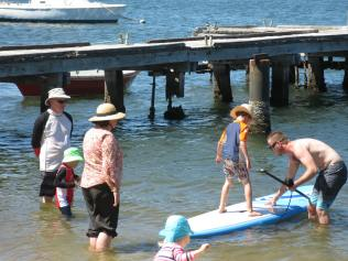 Playing near the jetty