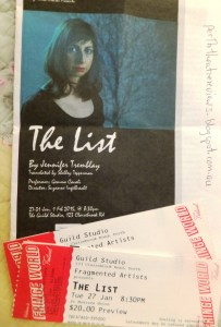'The List' program and tickets