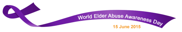 Elder Abuse - Wear a purple ribbon on Monday