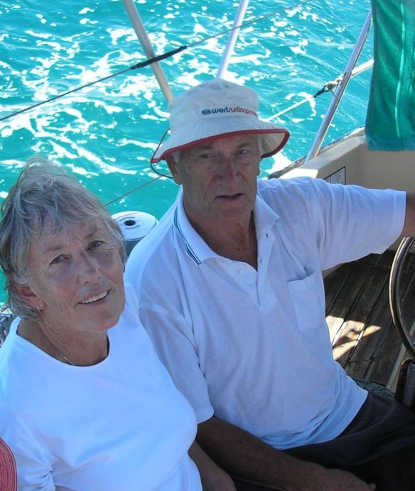 John and I on the yacht, Amigo Diablo where this story begins in my new book