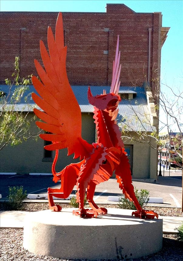 Dragons Sculpture in Tucson