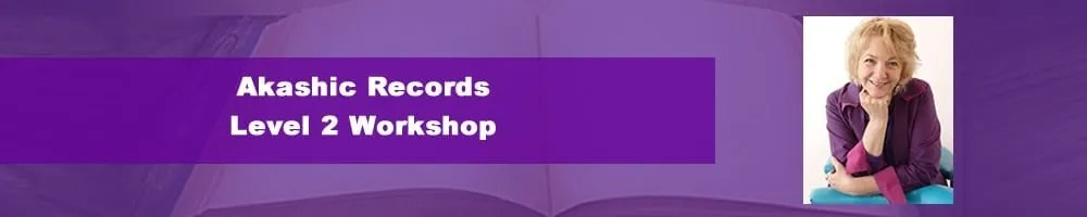 Purple banner with open Akashic Records book