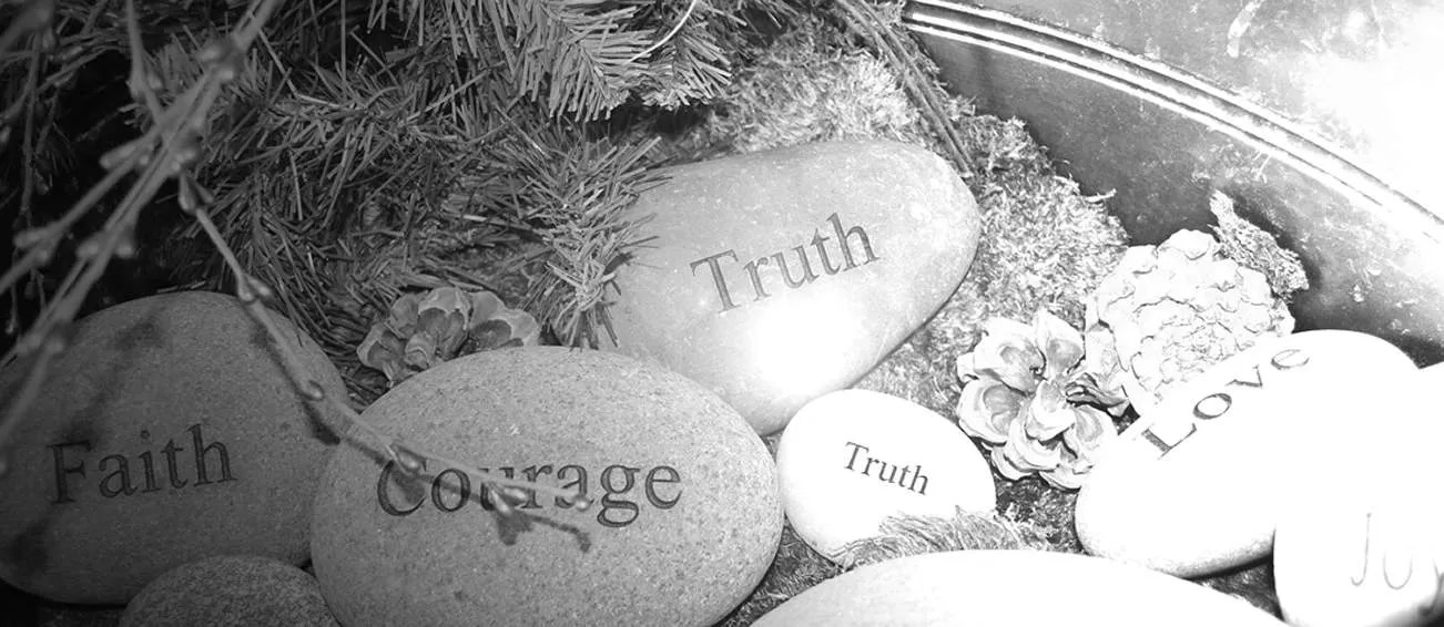 Stones with courage and truth