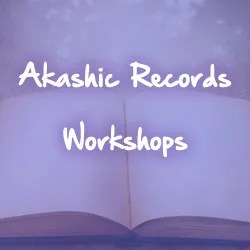 open book purple background white text akashic records