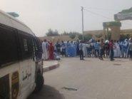 جرحى في احتجاجات طلابية أمام وزارة التعليم العالي