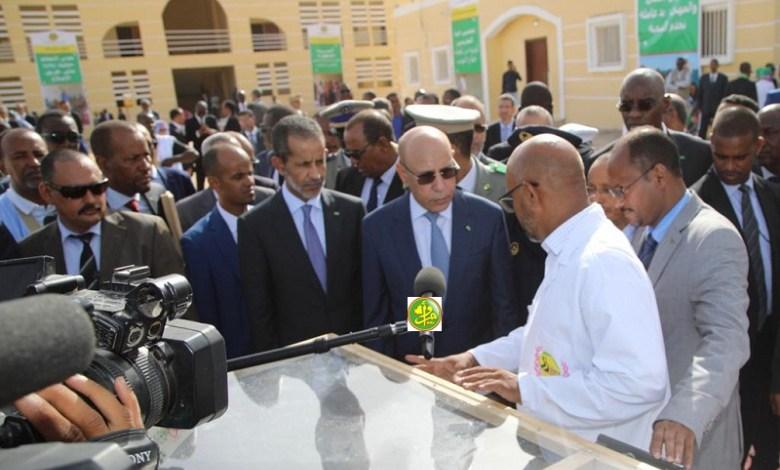 الرئيس الموريتاني خلال افتتاح العام الدراسي ـ المصدر الوكالة الموريتانية للأنباء
