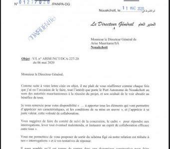 ميناء نواكشوط: اتفاقيتنا مع ARISE لم تأخذ بعين الإعتبار مصالح موريتانيا
