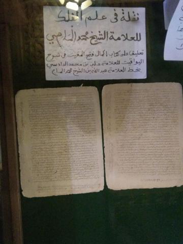 مخطوطات نادرة للشيخ محمد المامي
