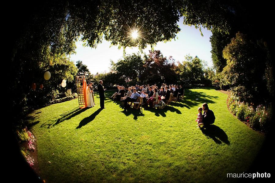 Wedding ceremony at Parsons Garden