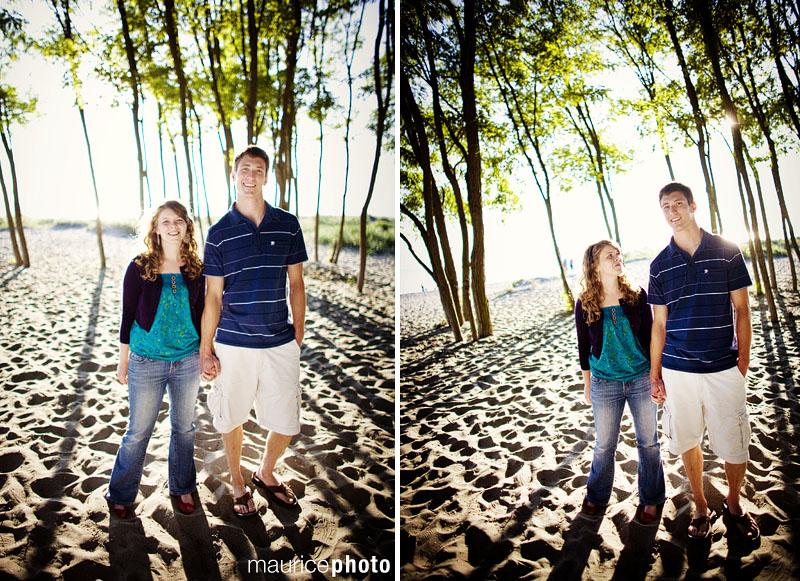 Engagement Portraits at Golden Gardens.