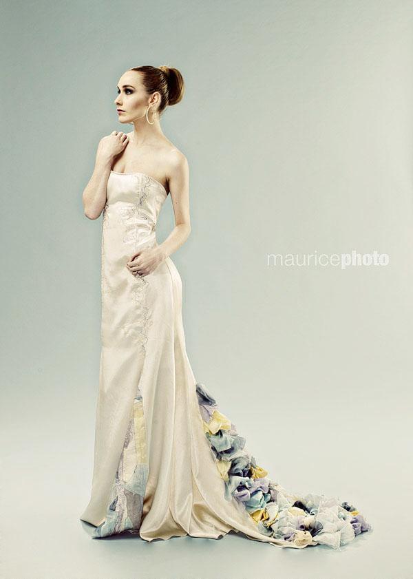 Wedding dress fashion photography