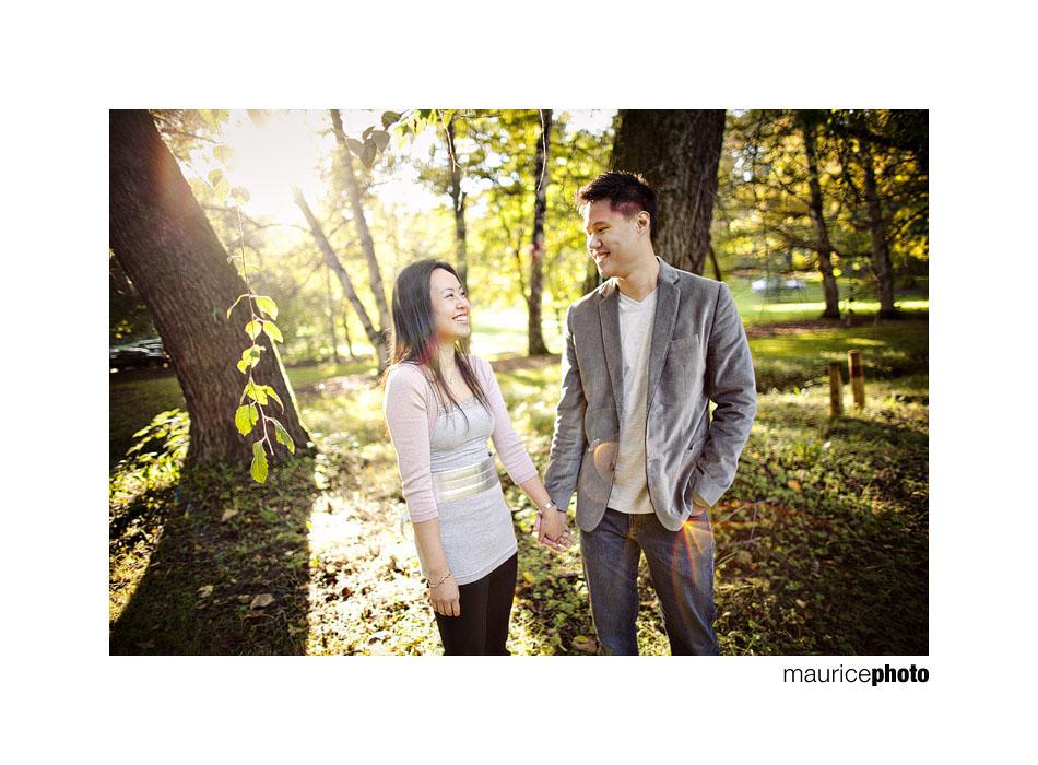 Seattle Engagement Portraits in the Washington Park Arboretum