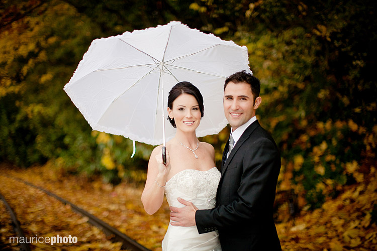 Wedding photos in the rain Seattle