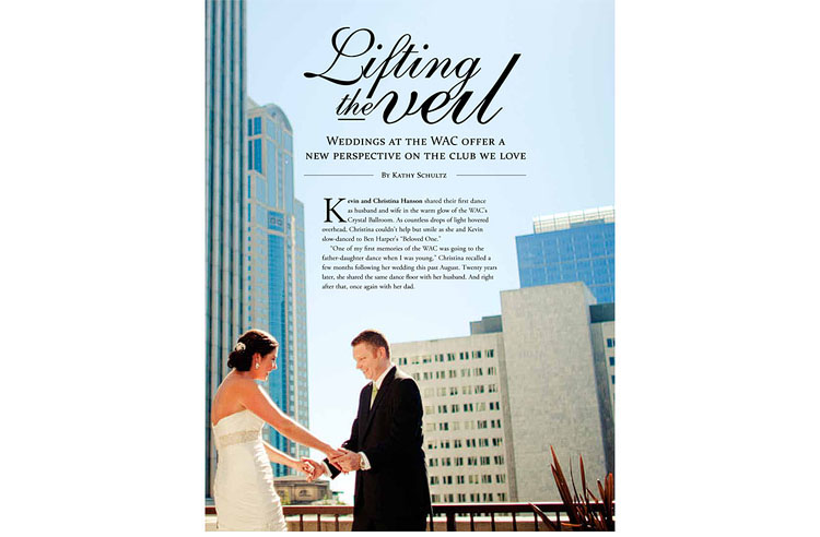 Christina and Kevin's wedding WAC magazine
