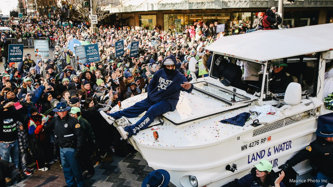 Marshawn Lynch in Victory Parade